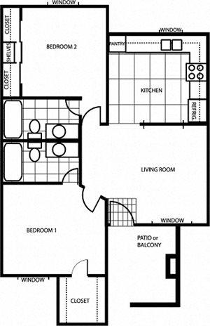 University Square 2 Bedroom
