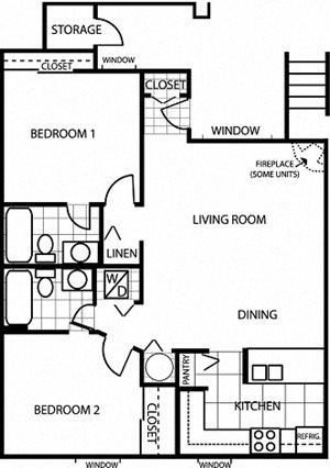 Butterfield 2 Bedroom 2 Bath