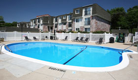 Outdoor Pool at West Haven Apartments in Omaha