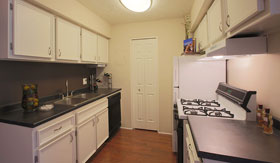Kitchen at Apartments in Omaha