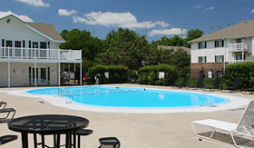 Outdoor Pool at Pacific Winds Apartments in Omaha
