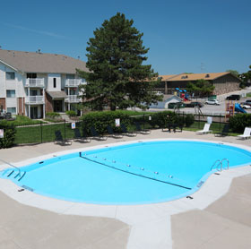 Pool at Pacific Winds Apartments in Omaha