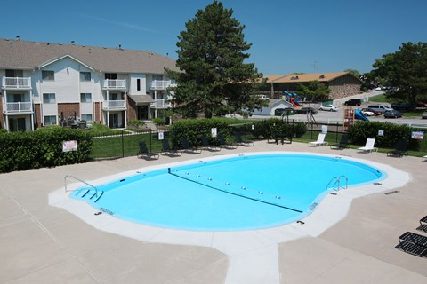 Crystal Clear Apartment Pool in Omaha