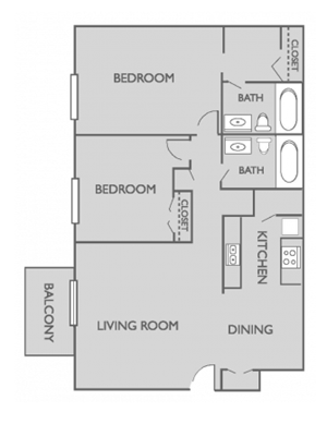 Two Bed, Two Bath