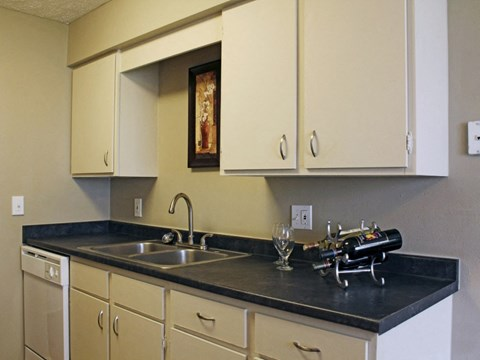 Kitchen inside Georgetowne Apartments in Omaha, NE