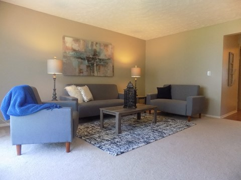 Living room at Georgetowne Apartments in Omaha, NE