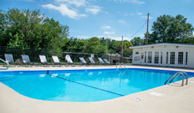 Outdoor Pool at Centre Ridge Apartments in Omaha