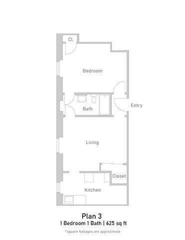 1 Bedroom - Plan 3