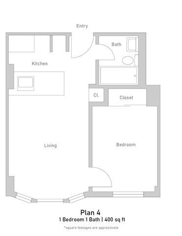 1 Bedroom - Junior - Plan 4