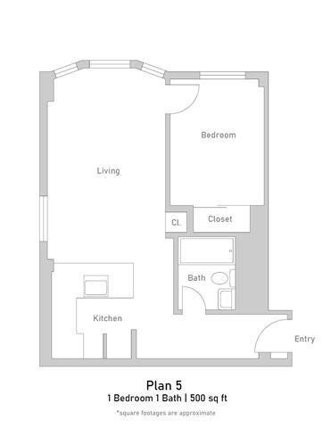 1 Bedroom - Plan 5