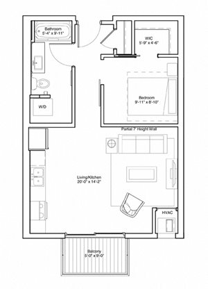Studio Apartment Floor Plan Vintage on Selby Apartments