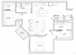 Vintage on Selby Apartments 2 Bedroom Apartment Floor Plan