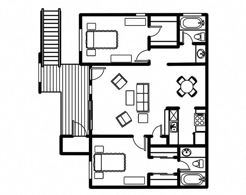 2x2 Floor Plan 3