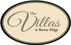 The Villas at Boone Ridge Logo Townhomes and apartments for rent in Johnson City, TN 37615
