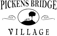The logo for Pickens Bridge Village in Piney Flats, TN