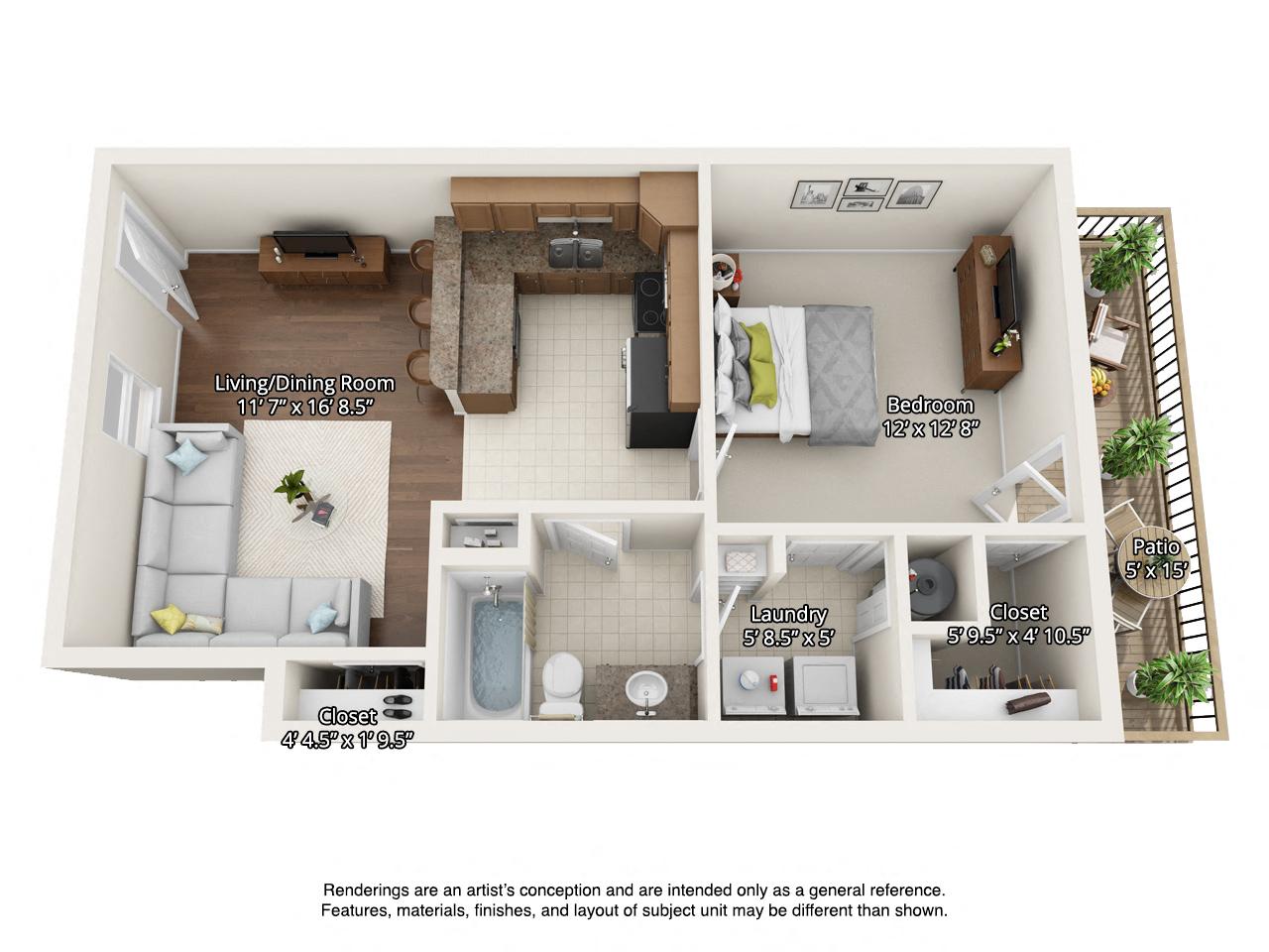 1 bedroom 1st floor - 1 Bedroom Apartments In Tn
