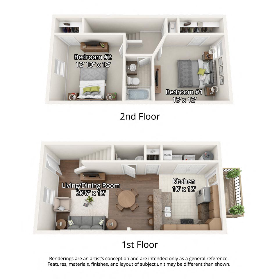 Floor Plans Of River View Townhomes In Elizabethton, TN