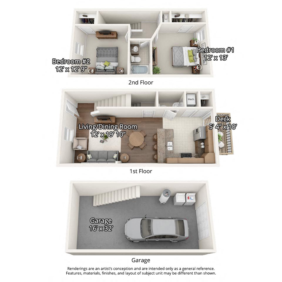 One Bedroom Apartments In Johnson City Tn: Floor Plans Of Stone Crest Townhomes In Johnson City, TN