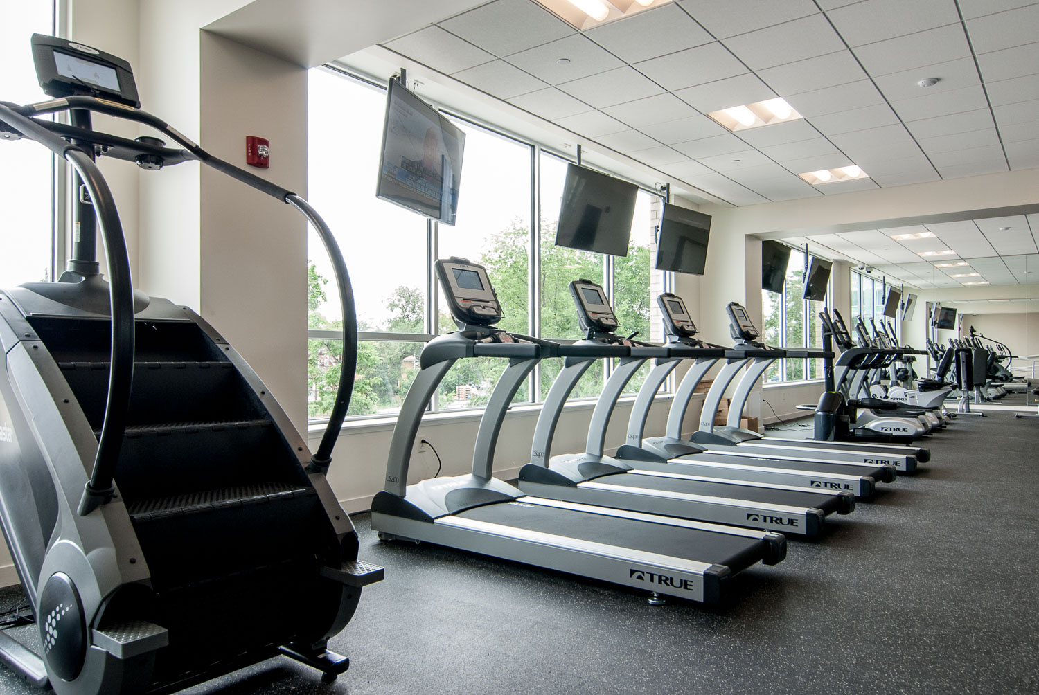 Fitness center at Innova Apartments in University Circle Cleveland