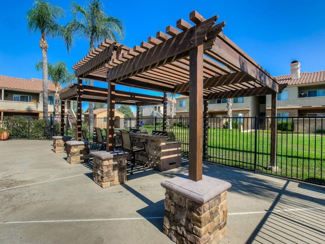 Outdoor BBQ and Cabana at Sedona Apartment Homes, 25106 Fir Ave, CA