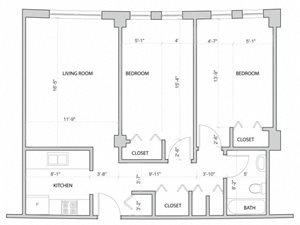 Midrise 2 bedroom