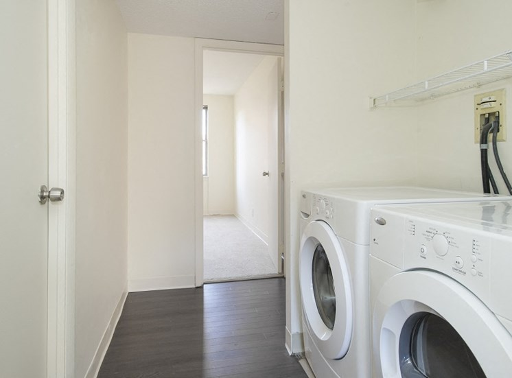 The Townhomes at Tent City Apartments feature in unit laundry.