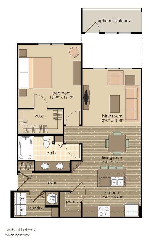The Onix Floor Plan 1