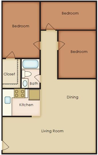 3 Bedroom Floor Plan 8