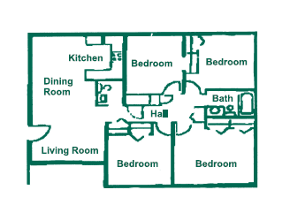 Four Bedroom Floor Plan 4