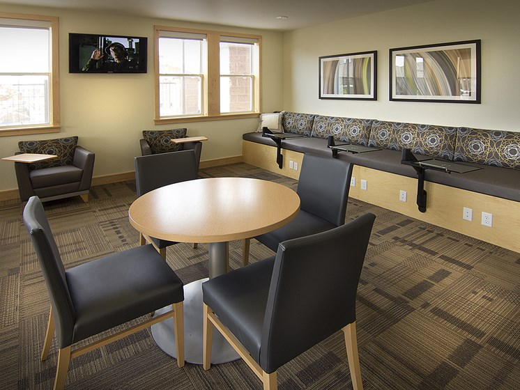 Coffee Lounge at The Greens at Van de Water Apartments in Loveland, CO