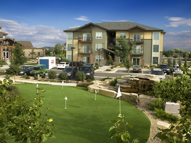 Putting Green at The Greens at Van de Water Apartments in Loveland, CO