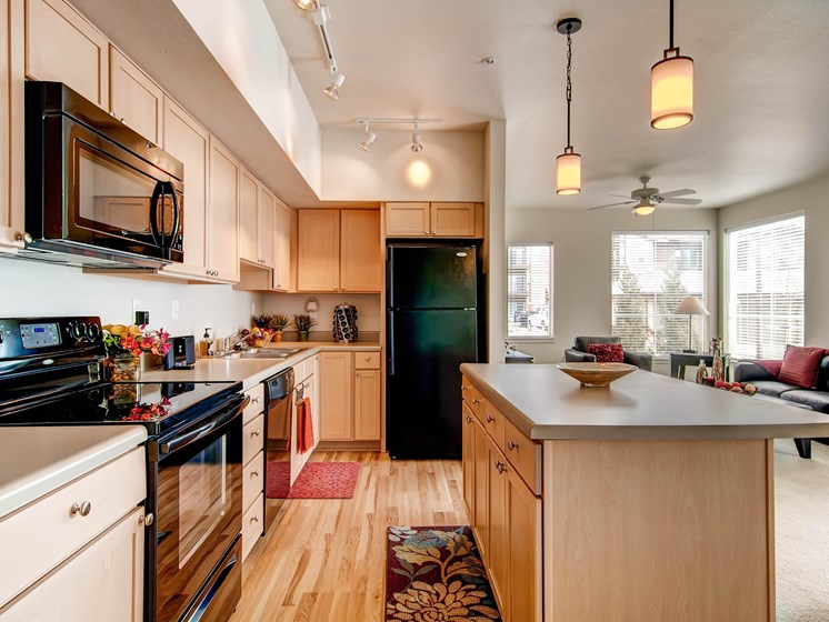 Spacious Kitchen at The Greens at Van de Water Apartments in Loveland, CO