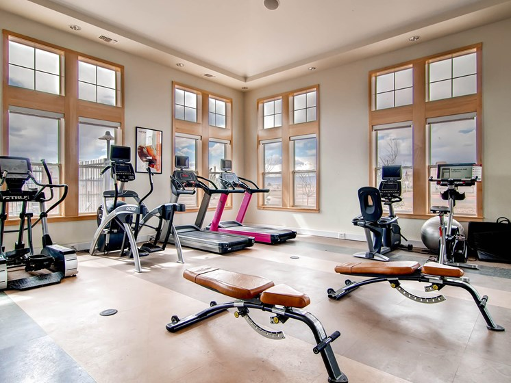 Fitness Center at The Greens at Van de Water Apartments in Loveland, CO
