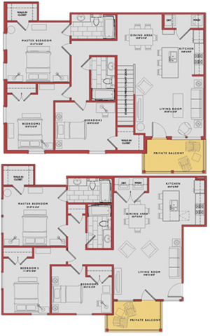 Spacious Trenton Floor Plan at Traditions at Westmoore Apartments in Oklahoma City, OK