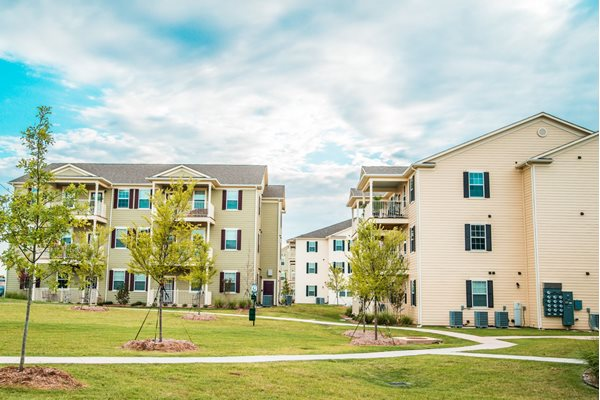 Tons of green space at Westmoore Apartments in Oklahoma City, OK