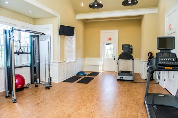Brand new cardio theater at Westmoore Apartments in Oklahoma City, OK