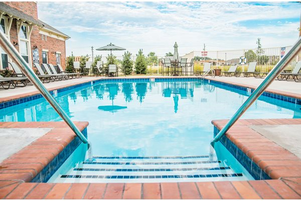 Resort-style swimming pool at Westmoore Apartments in Oklahoma City, OK