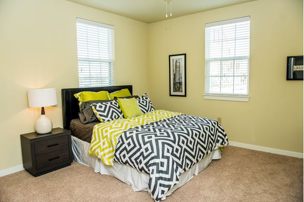 Large bedrooms with plush carpeting at Westmoore Apartments in Oklahoma City, OK