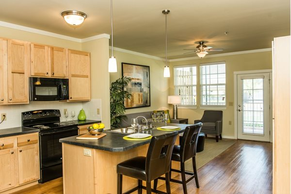 Brand new modern kitchens at Westmoore Apartments in Oklahoma City, OK
