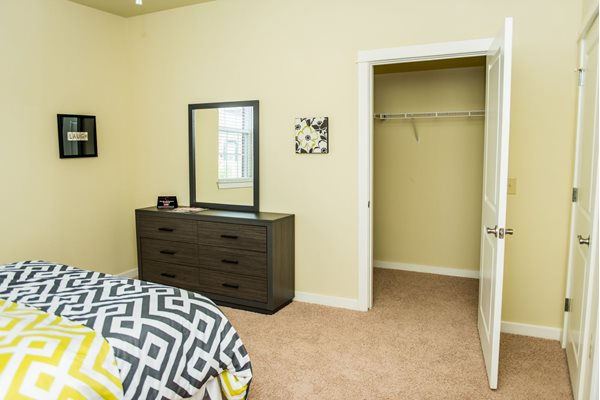 Large bedrooms with over-sized closets at Westmoore Apartments in Oklahoma City, OK