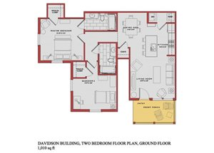 Spacious Davidson Ground Floor Plan at Traditions at Westmoore Apartments in Oklahoma City, OK
