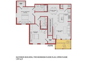 Spacious Davidson Upper Floor Plan at Traditions at Westmoore Apartments in Oklahoma City, OK
