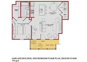 Spacious Garland Ground Floor Plan at Traditions at Westmoore Apartments in Oklahoma City, OK