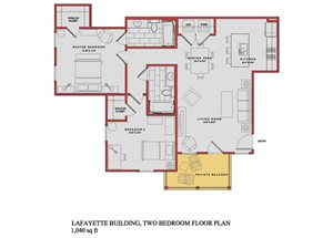 Spacious Lafayette Floor Plan at Traditions at Westmoore Apartments in Oklahoma City, OK