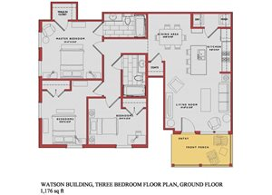 Spacious Watson Ground Floor Plan at Traditions at Westmoore Apartments in Oklahoma City, OK