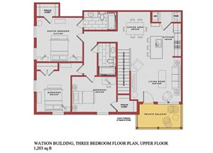 Spacious Watson Upper Floor Plan at Traditions at Westmoore Apartments in Oklahoma City, OK