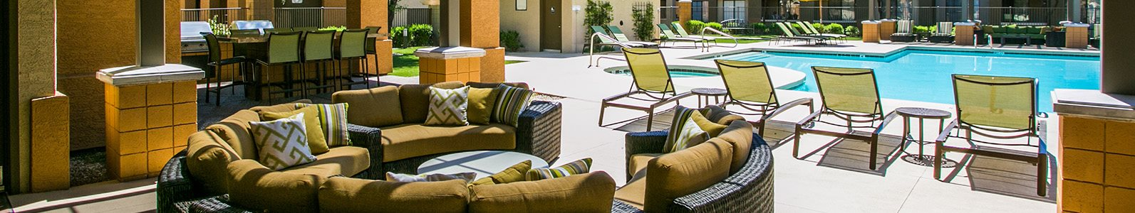 Waterford Outdoor Lounge Sundeck and Pool in East Mesa AZ