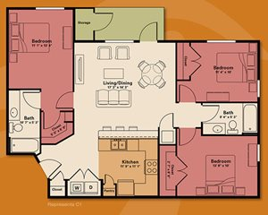 three bedroom apartment rental - Quail Run Apartments | Apartments in Zionsville, IN