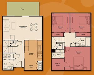 Three bedroom townhouse - 3 bedroom apartment rental - Quail Run Apartments | Apartments in Zionsville, IN