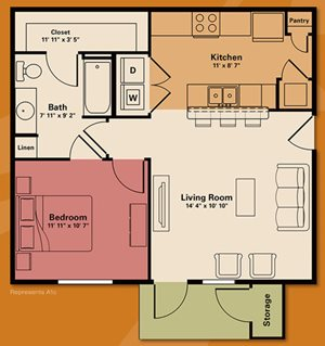 1 bedroom apartment rental - Quail Run Apartments | Apartments in Zionsville, IN